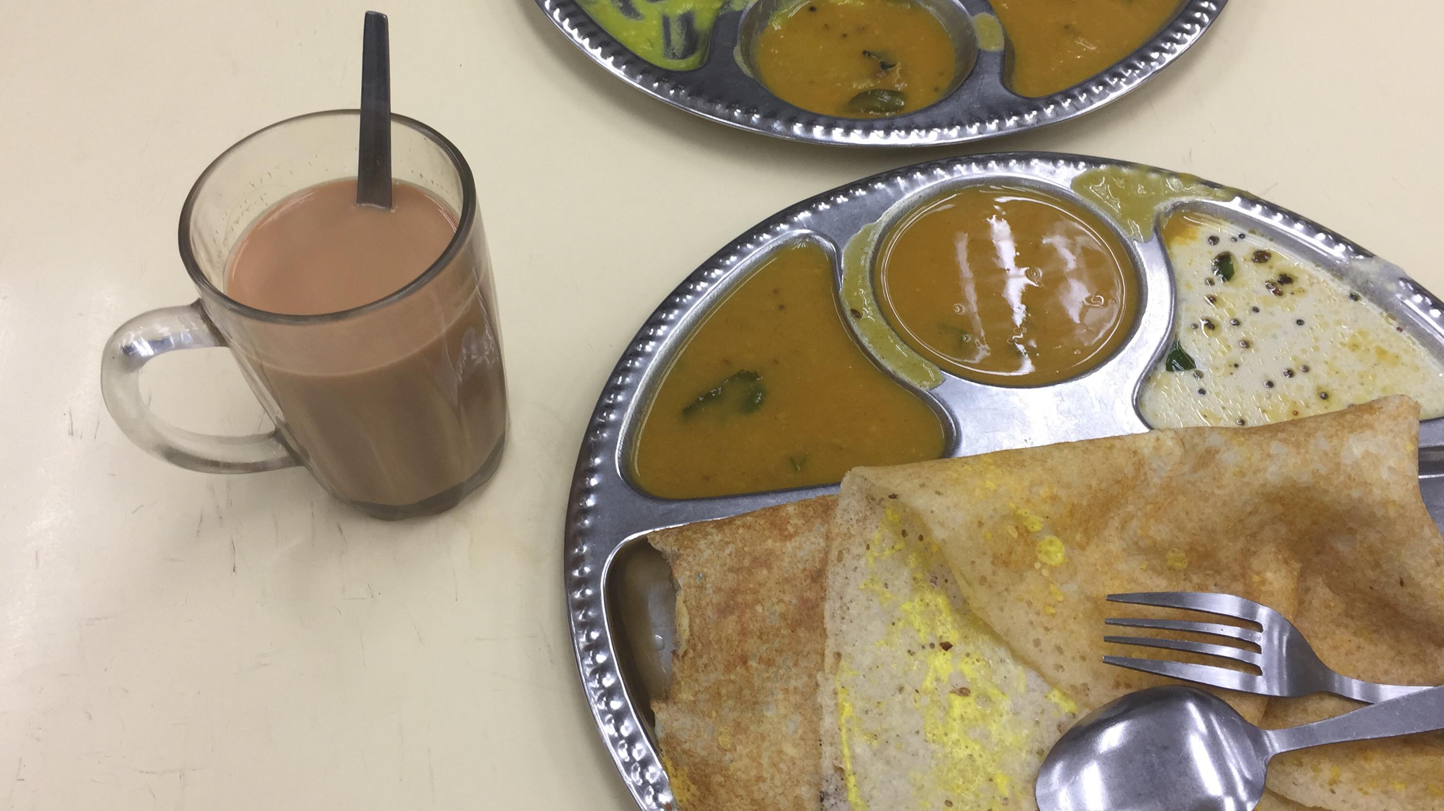Roti canai and milo meal