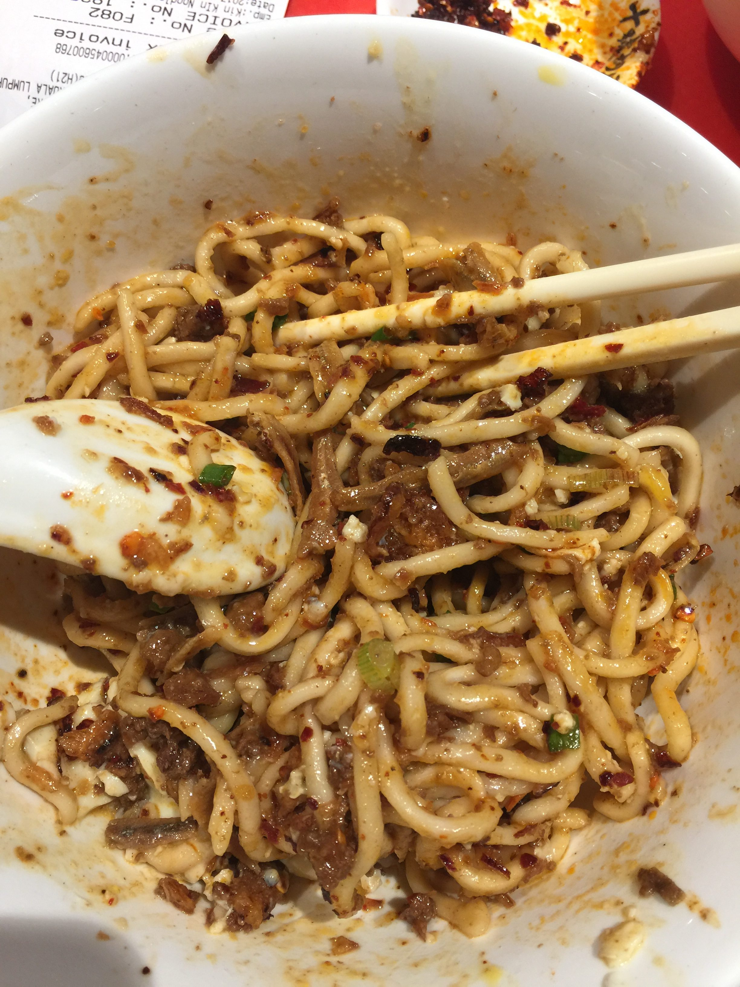 Dry chili pan mee