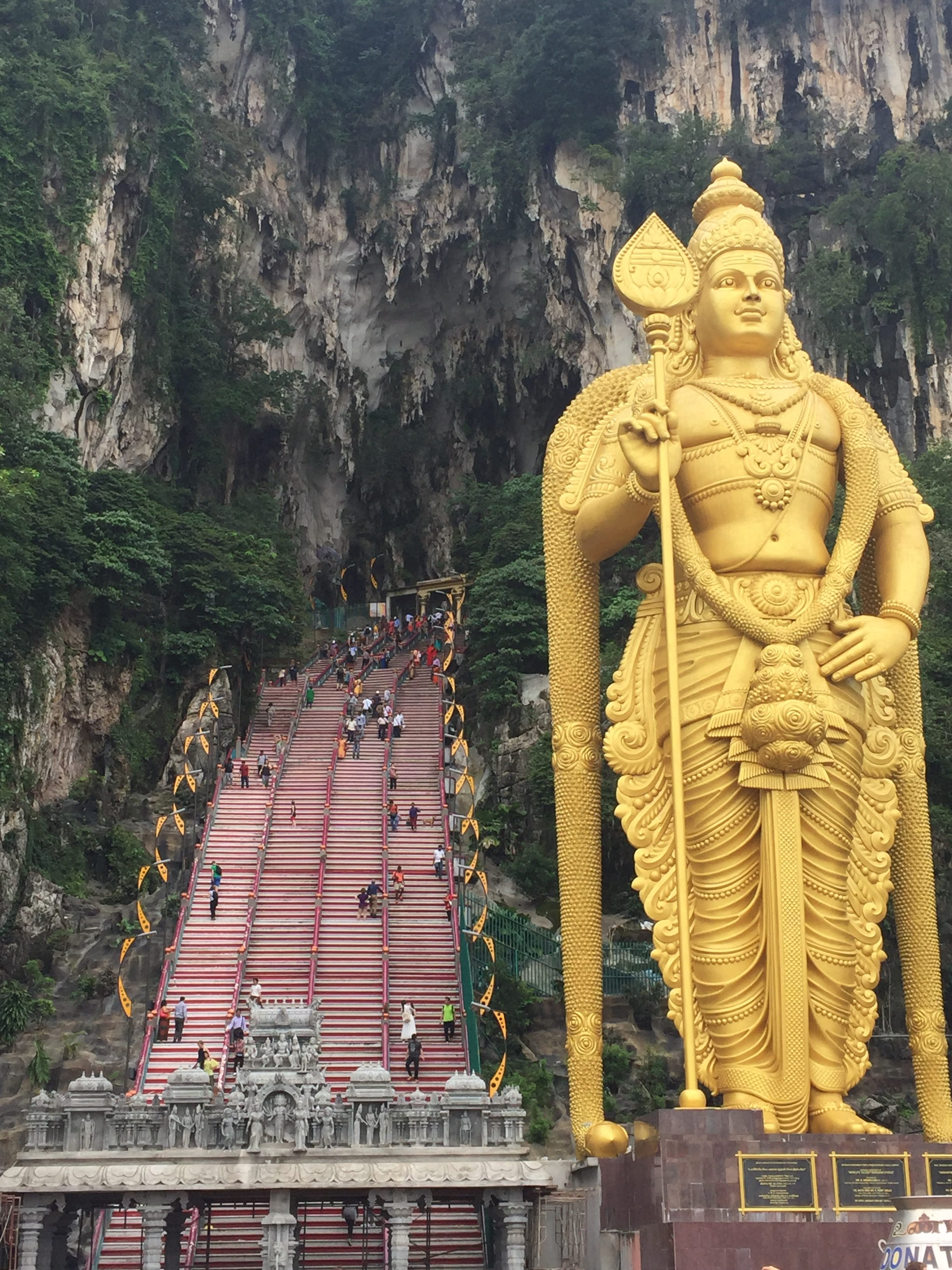 Batu Caves from the front