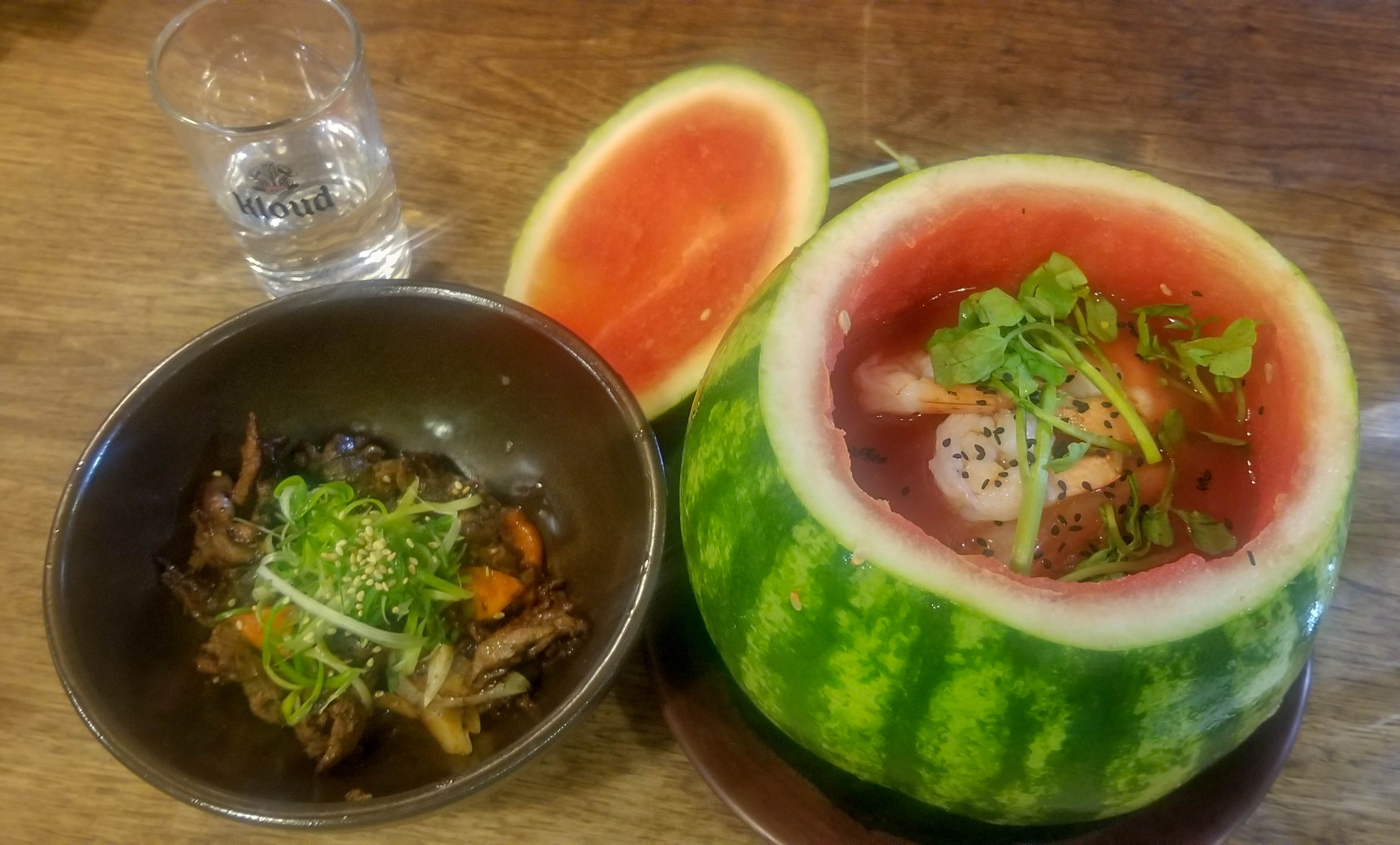 Inside the watermelon ramen