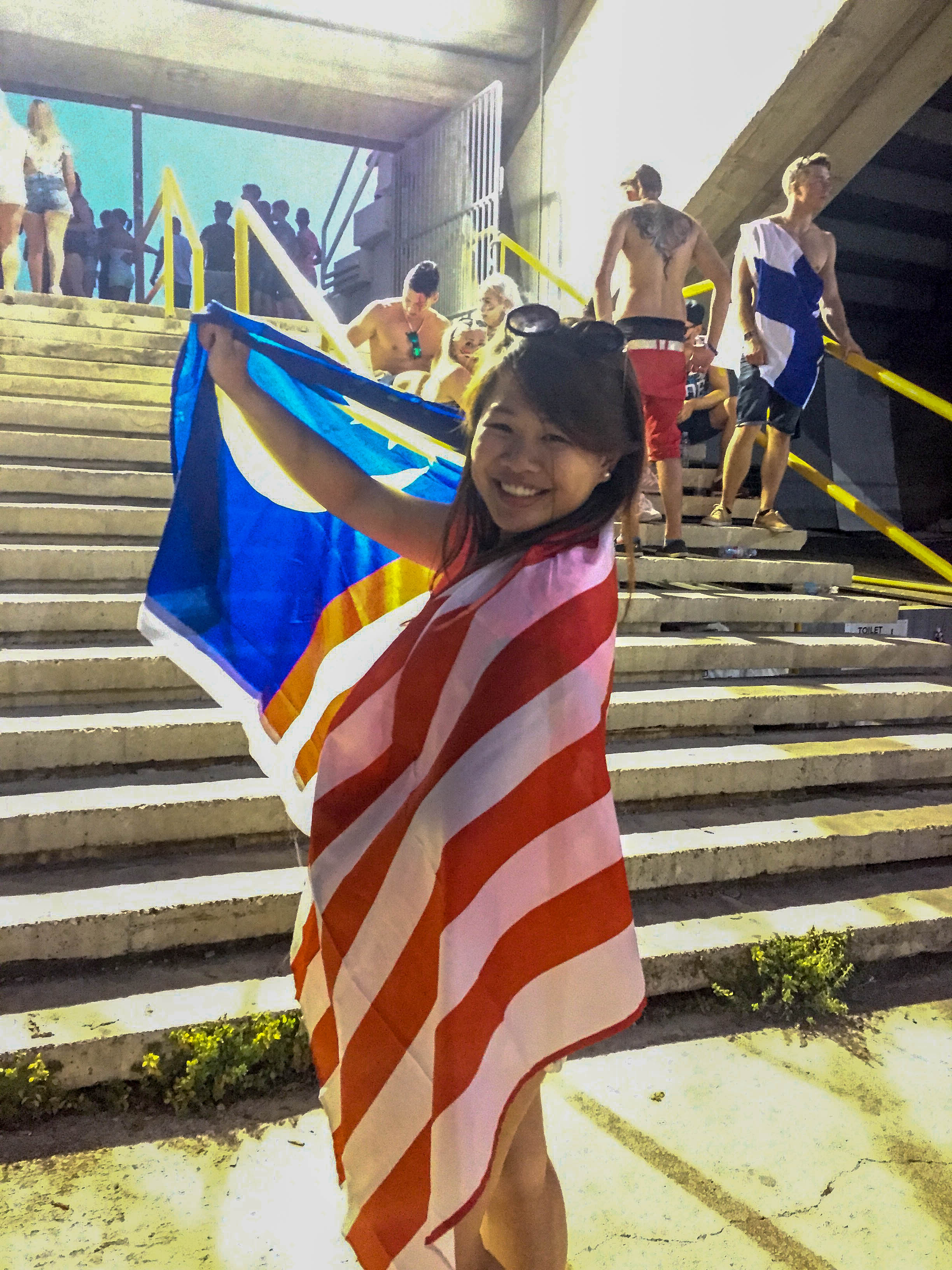 The Malaysian flag and I