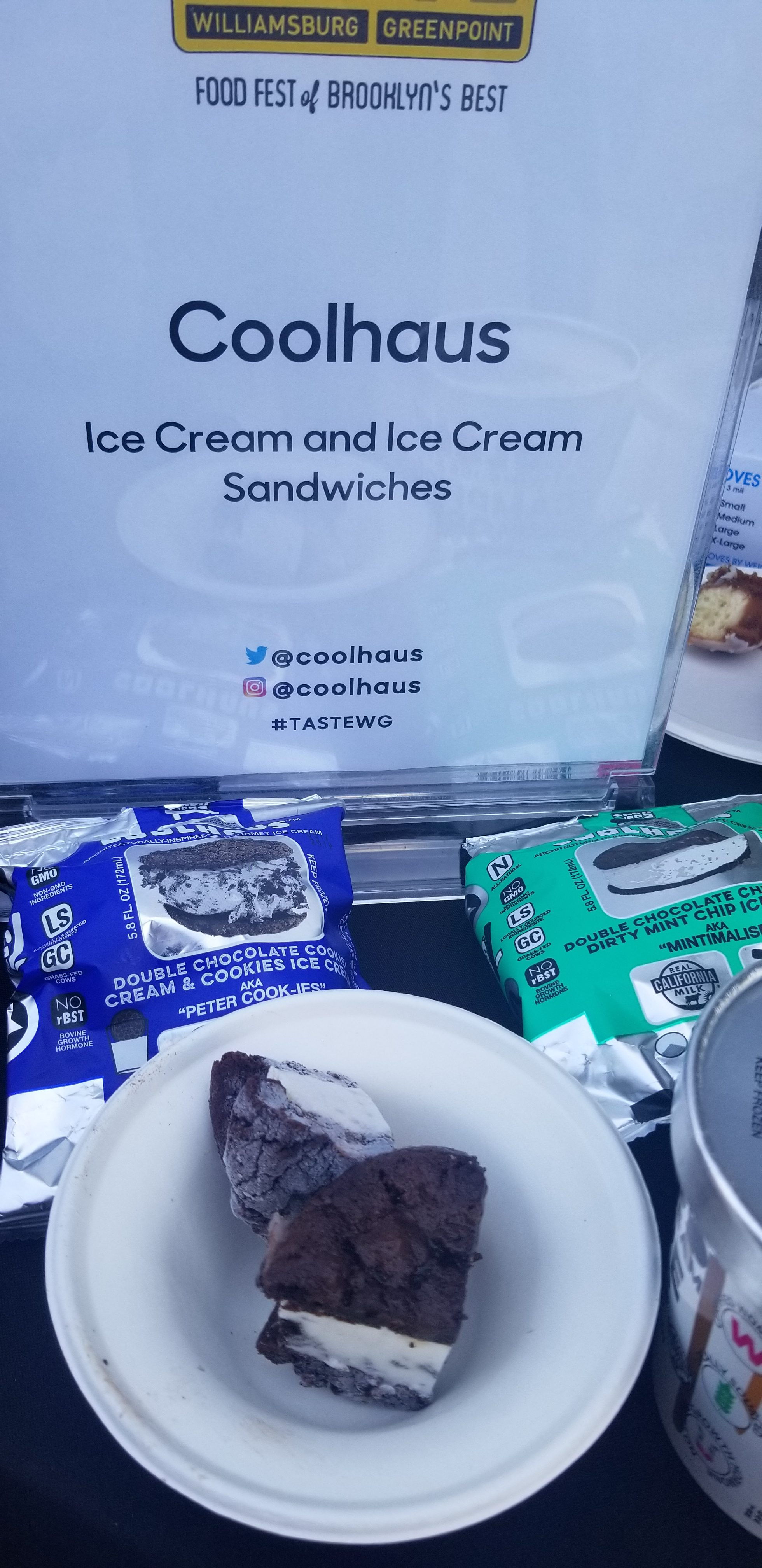 Coolhaus ice cream sandwich taste wg nyc