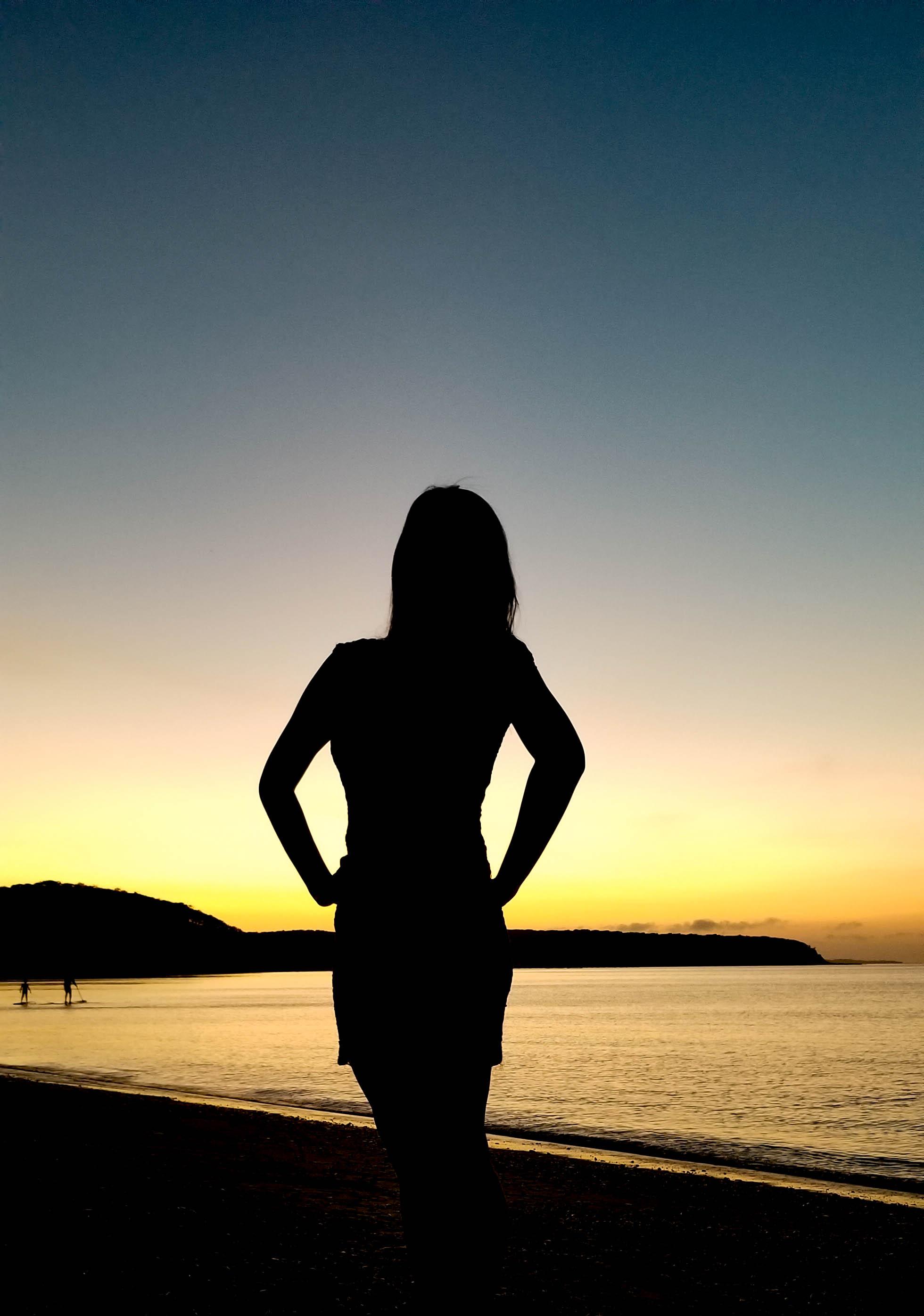 sunset at navy beach, montauk