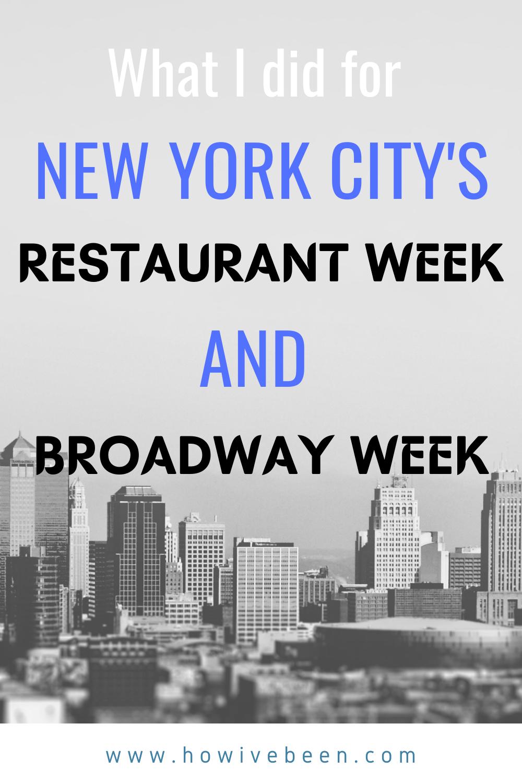 new york city nyc restaurant week broadway week