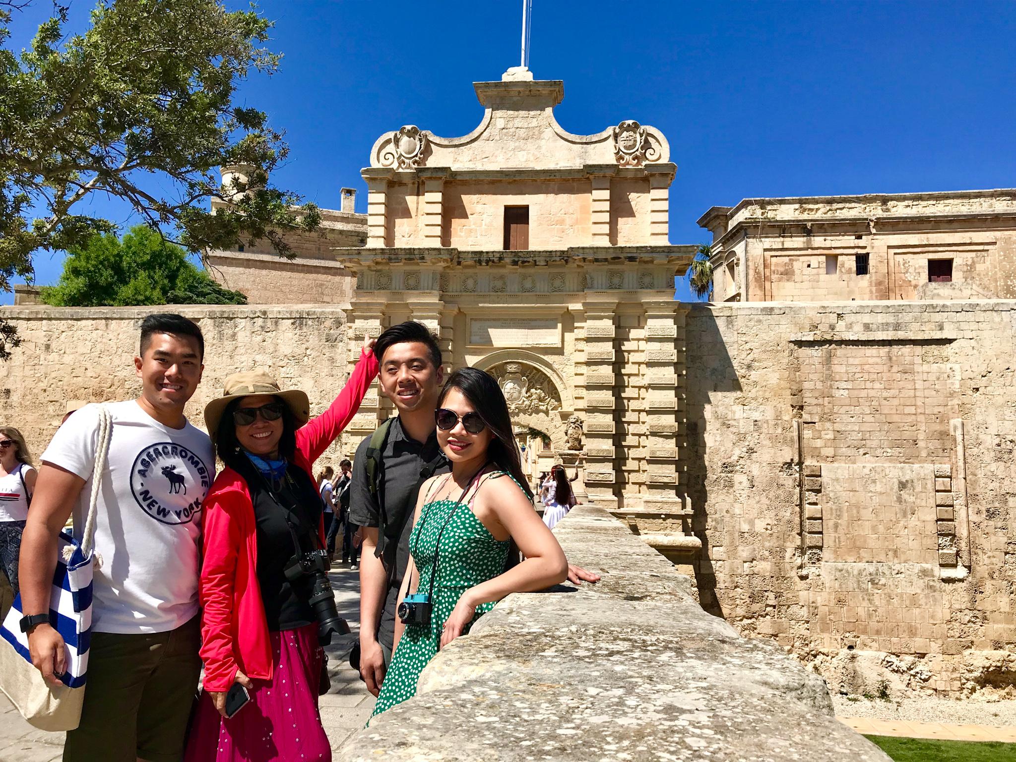At the entrance of Mdina