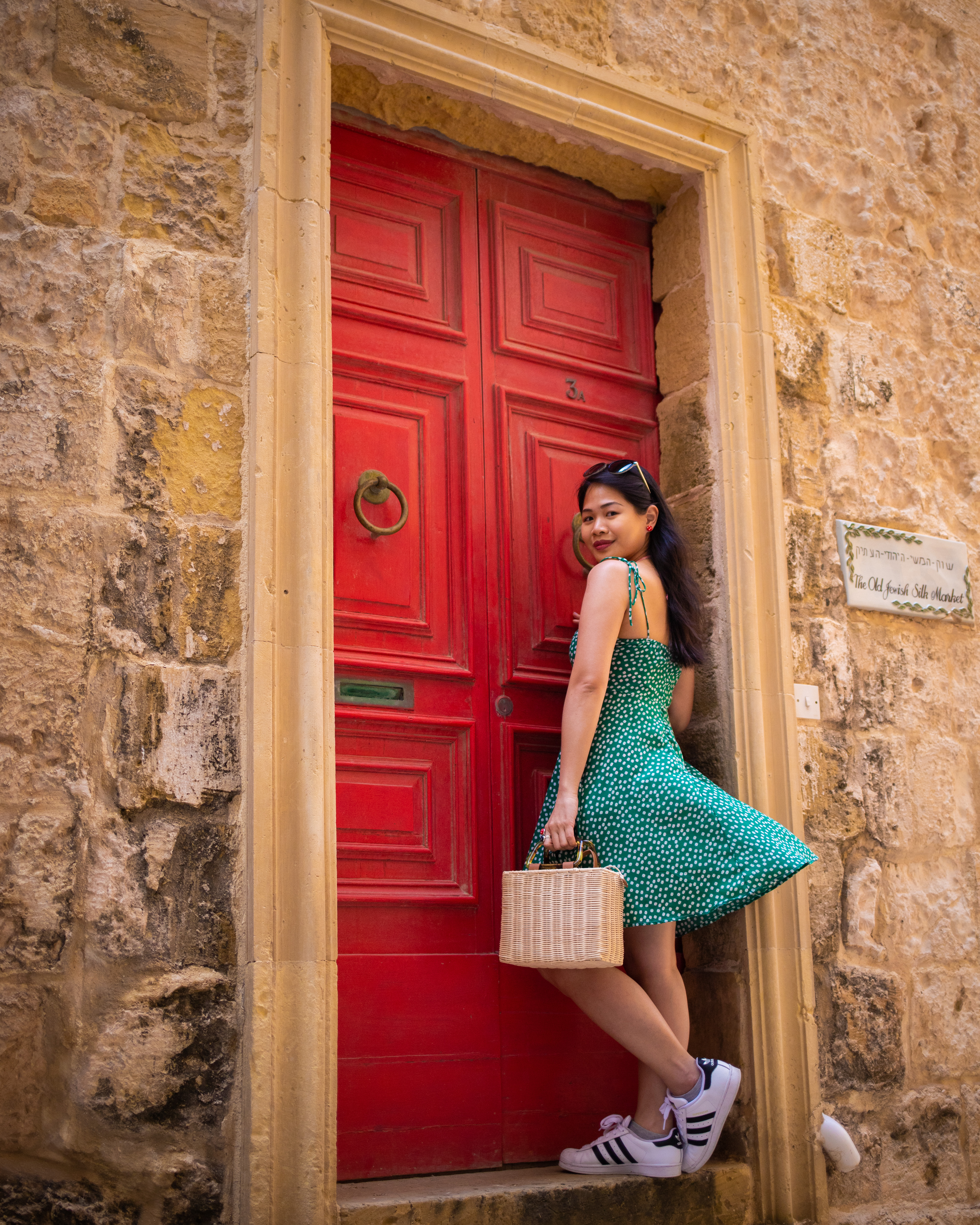 With the red door at Mdina