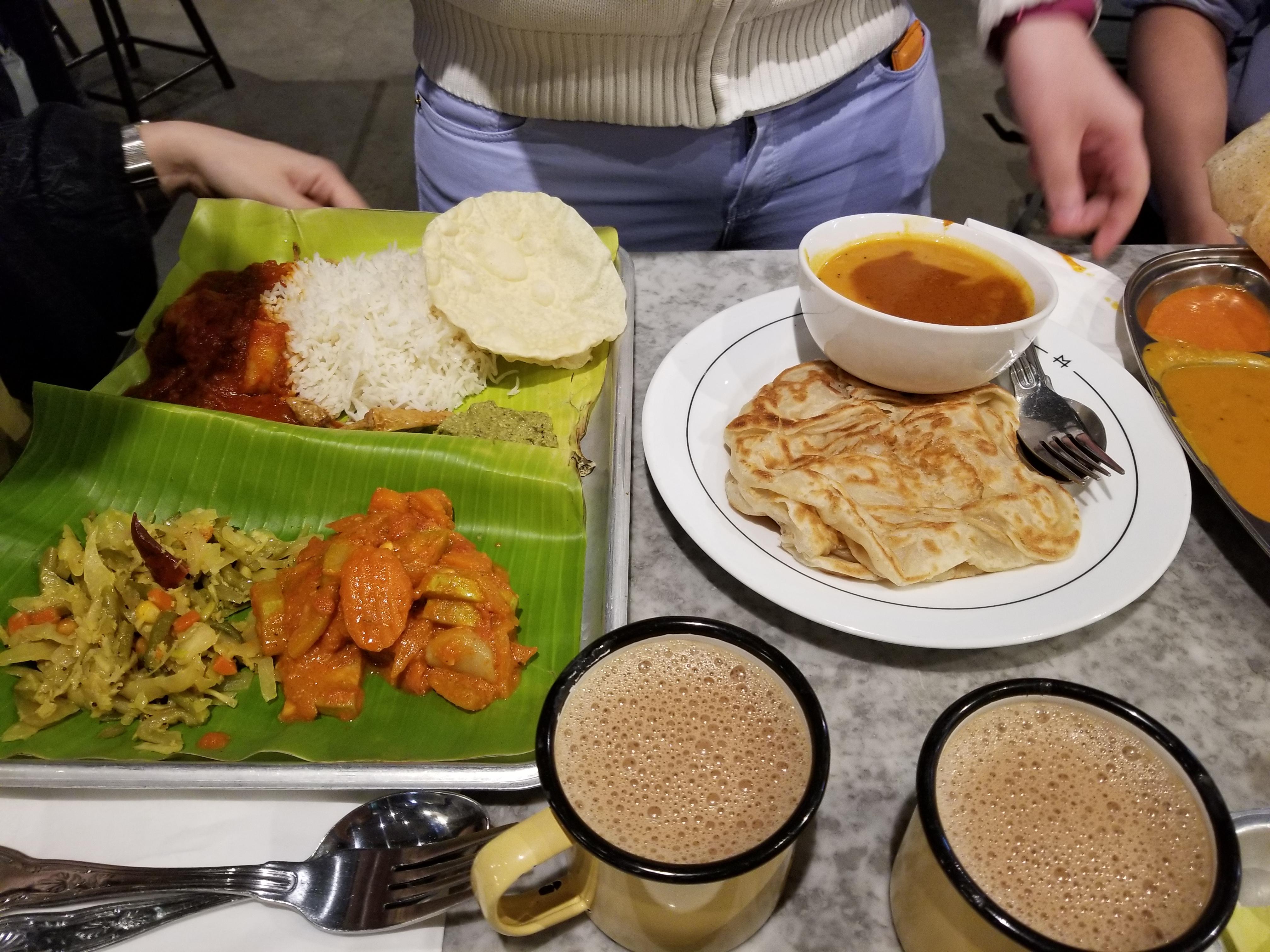 Malaysian food in Gopal's Corner, London. 4 place to eat in London; roti canai, teh tarik