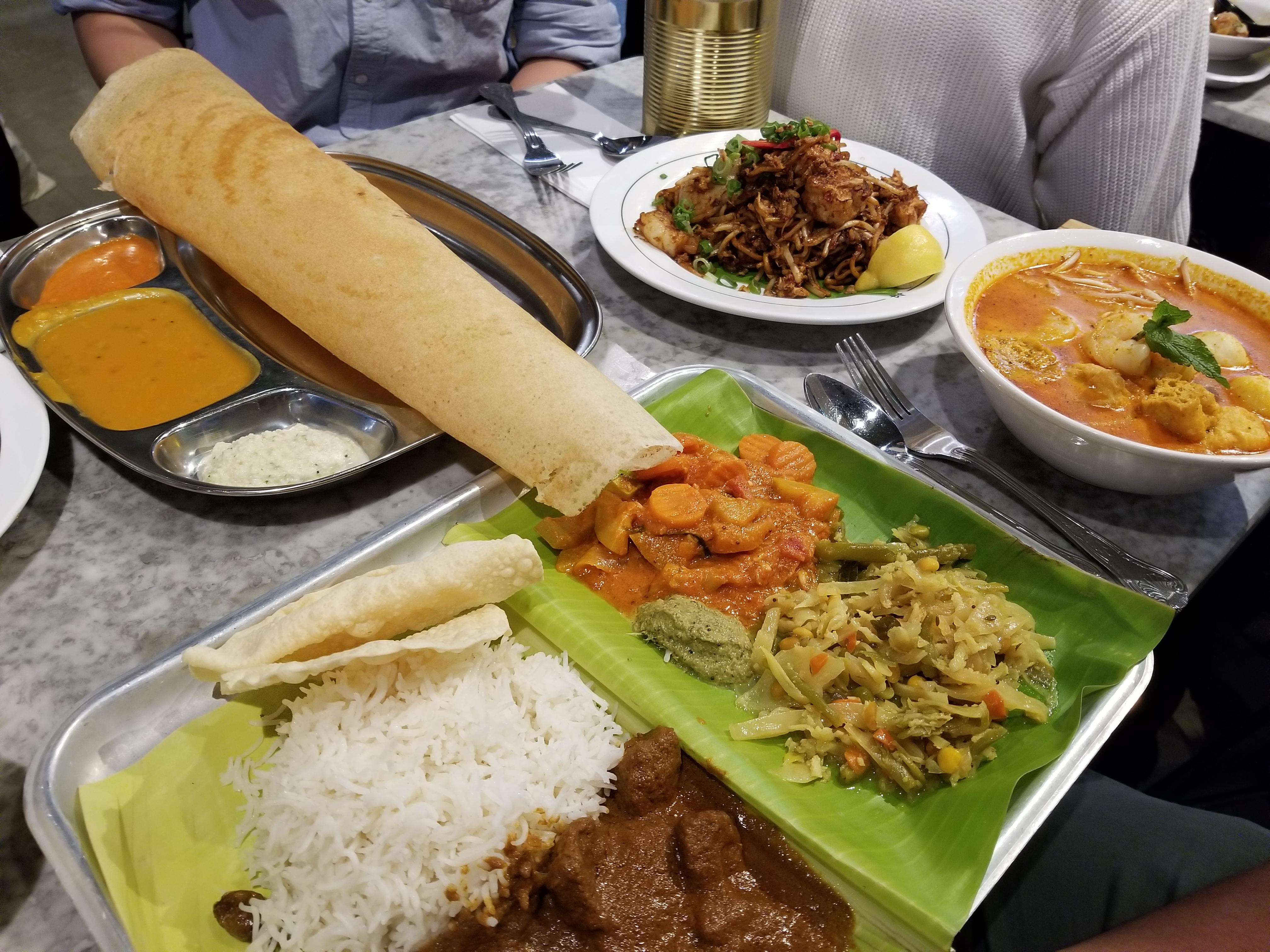 Malaysian food in Gopal's Corner, London. 4 places to eat in London, roti tisu, curry me, mee goreng