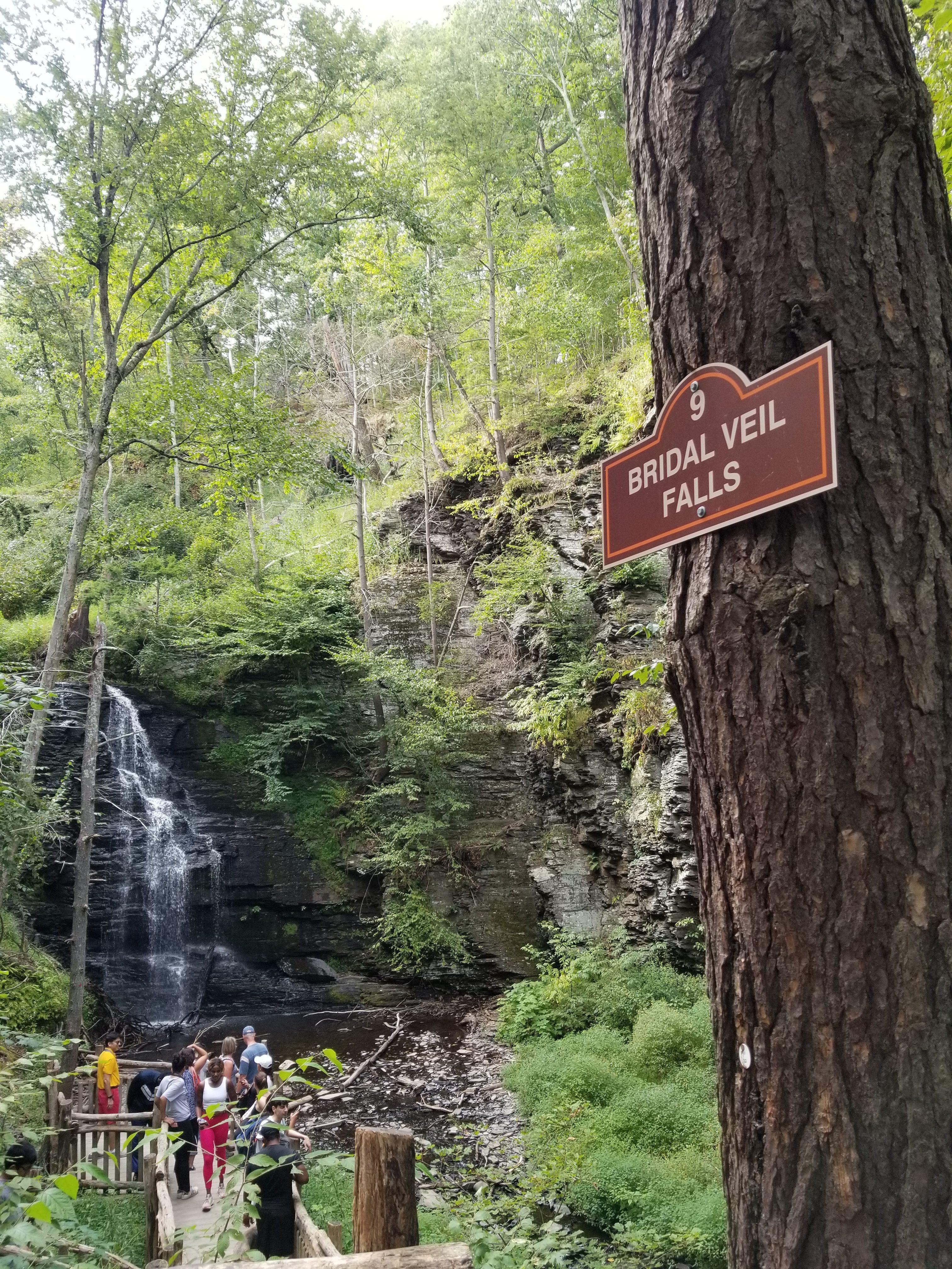 Bridal Veil Falls at Bushkill, Poconos