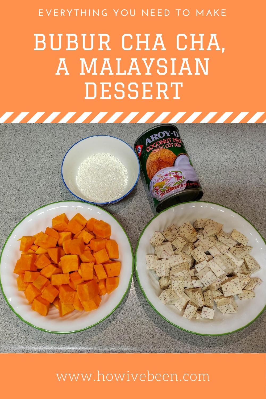 how to make bubur cha cha, a malaysian dessert