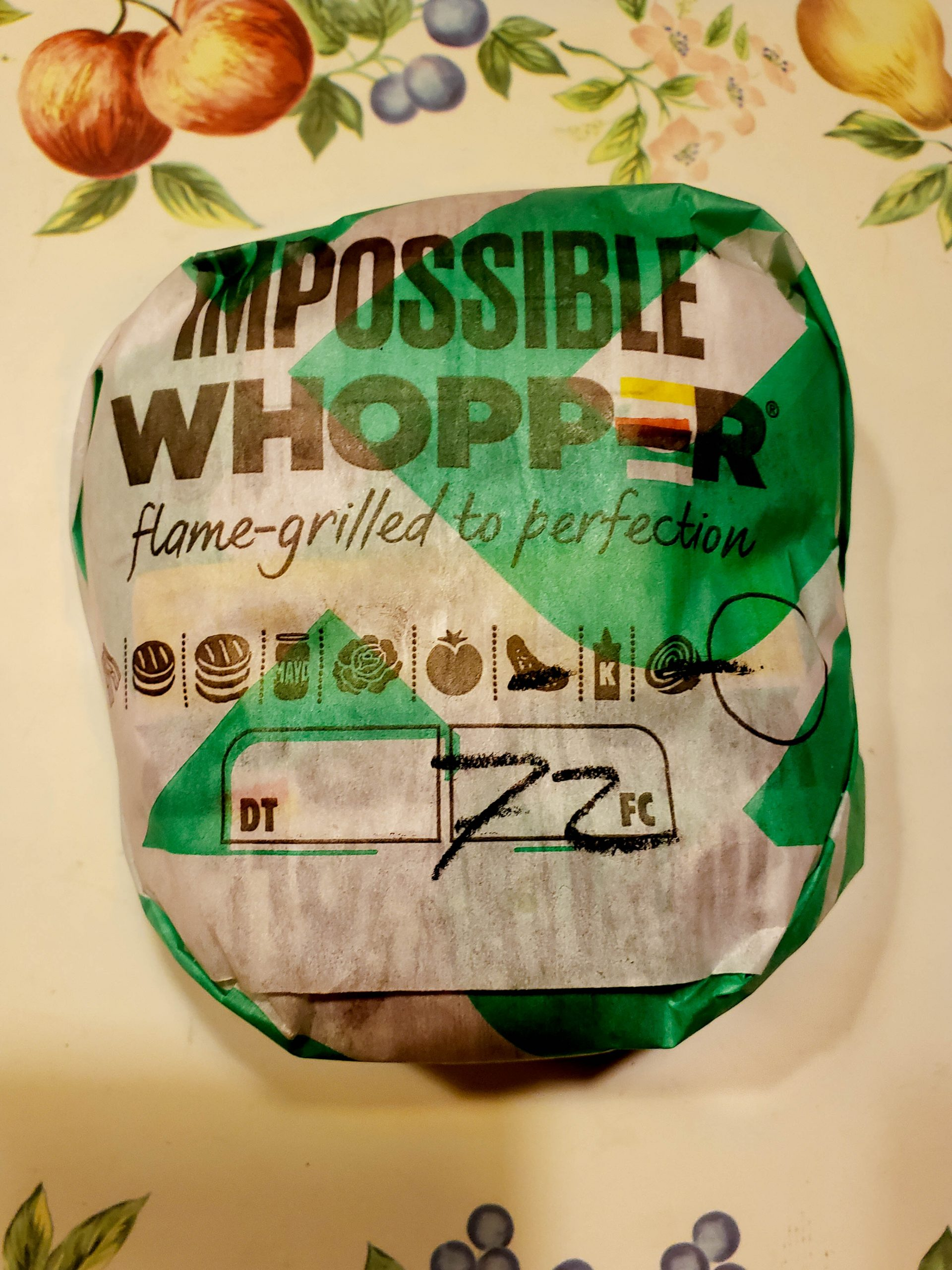 burger king impossible whopper plant based burger
